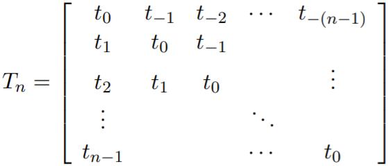 Matriks Toeplitz