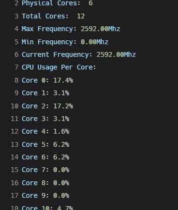 Get CPU Information Using Python Result - Inpows