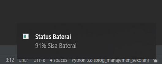 Membuat Notifikasi Status Baterai di Python
