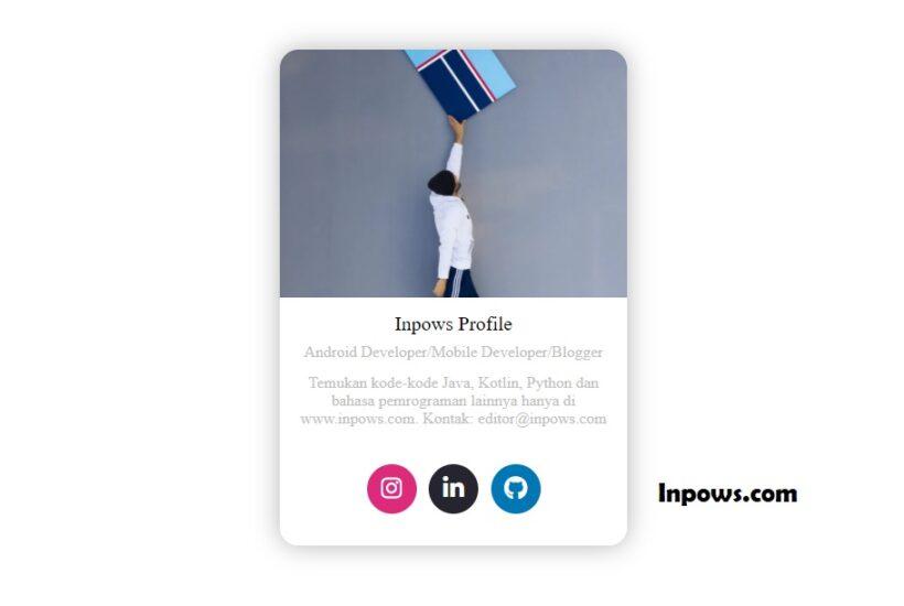 Membuat Profile Card Yang Elegan Menggunakan CSS