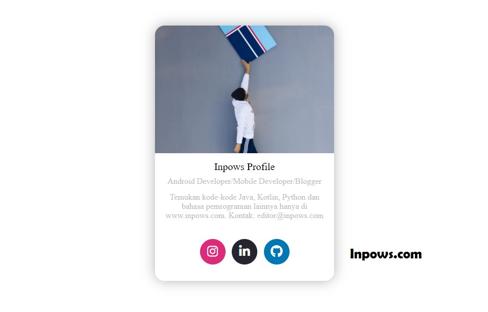 Membuat Profile Card Menggunakan CSS