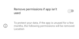Android 11 - disable remove permission when app unused - inpows