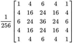 5x5 Gaussian Filter - Inpows