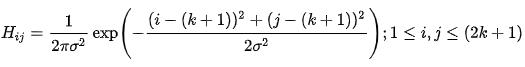 Gaussian filter Equation - Inpows