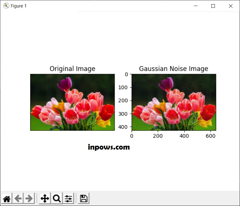 Menambahkan gaussian noise pada citra menggunakan scikit-image python -Inpows