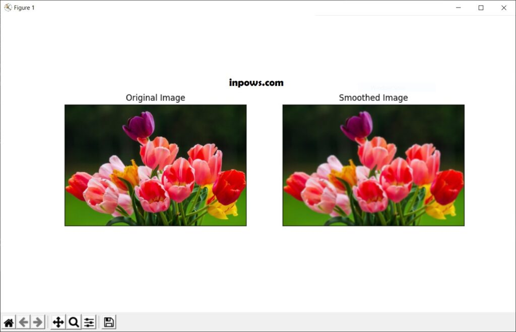 Tulips Original and Smoothed - Inpows
